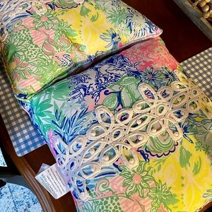 Pair of Lilly Pulitzer pillows